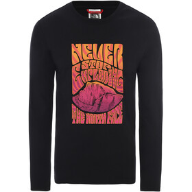 The North Face Graphic Pitkähihainen T-paita Miehet, tnf black/flame orange